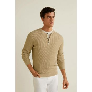 Men's Beige Sweater 33033747