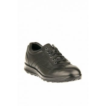 Genuine Leather Black Men Shoes 9347 308M_000