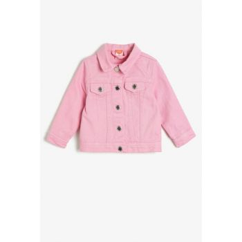 Pink Girl Child Button Detail Coat 0YMG57161OD