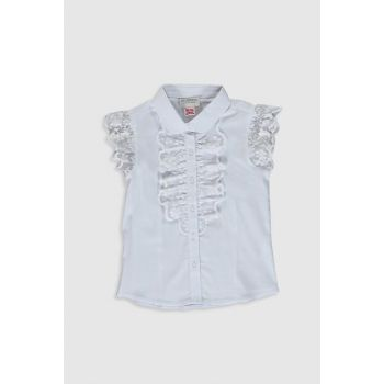 Girl's Optical White Ffb Shirt 0S2443Z4