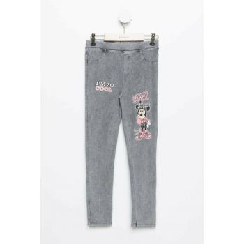 Mickey Mouse Printed Licensed Elastic Waist Skinny Fit Wrist Length Pants K3169A6.19SP.GR42