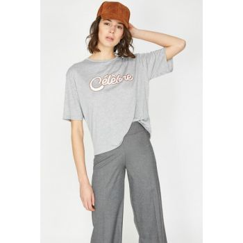 Women's Gray T-Shirt 9YAK13803GK