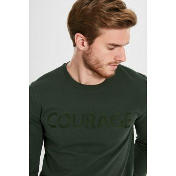 Men's Dark Green T-shirt 9W6132Z8