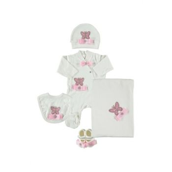 Butterfly Pink 5 Piece Baby Girl Hospital Outlet Set PP776P