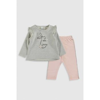 Baby Girl GRAY MELANGE CT3 Suit 9WJ735Z1