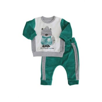 Green Fox Head Baby Boy Velvet Suit AF90314Y