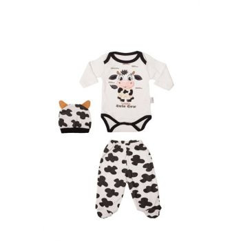 Cow Printed Baby Hat with Hat VIP6485