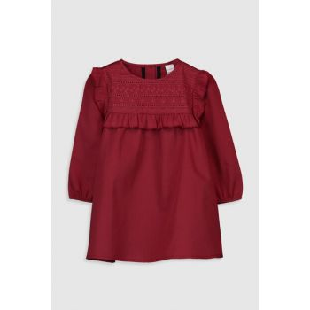 Baby Girl Matte Red Hlj Ruffle Detailed Dress 9WV325Z1