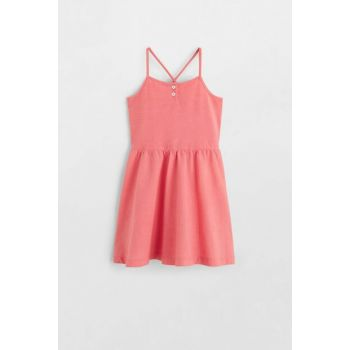 Pink Girl Dress with Slim Strap 53030692
