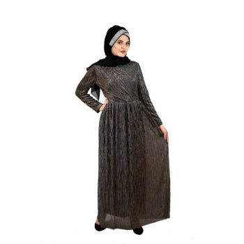 Hijab Sequined Evening Dress Copper SYR05296