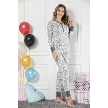 Women's Patterned Cotton Lycra Pajama Set 19221628
