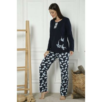 Women's Patterned Cotton Lycra Pajama Set 19221799