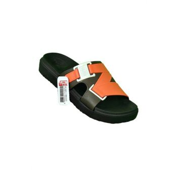 Orange Sea Beach Pool Bathroom Daily Men Slippers 786321BZ