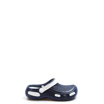 Navy Blue White Men's Slippers 2273272