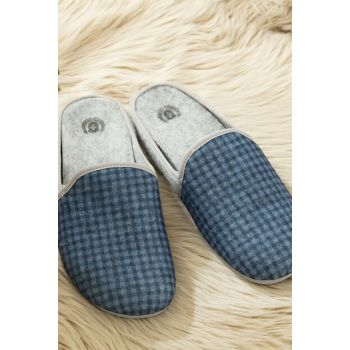 Ponchettes Men's Slipper - Navy Blue 1KTERL0346-8682116140324