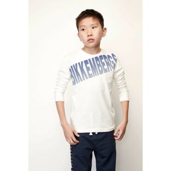 Boys' White T-Shirt 19FWDJMTE71