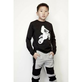 Boys Black T-Shirt 19FWDJMTE60