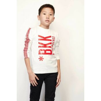 Boys' White T-Shirt 19FWDJMTE50