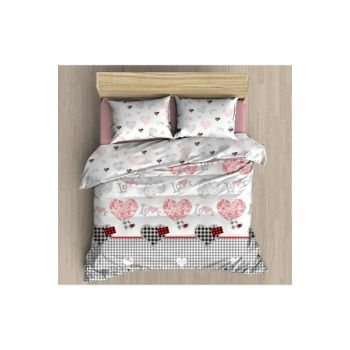 Single Duvet Cover Set Daily Ranforce-Love 14828