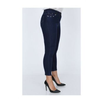 Pearl Detailed Plus Size Pants B-129