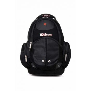 Black Unisex School Bag wilson Backpack 50932black