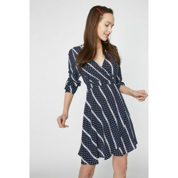 Women's Black Patterned Dress 9KAL81215JW