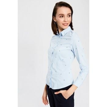 Women's Blue Striped Shirt 9WM265Z8