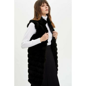 Women's Black Plush Vest N6347AZ.19WN.BK22