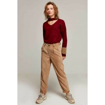 Women's Beige Trotter Pocket Pants 10431 Y19W126-10431-1