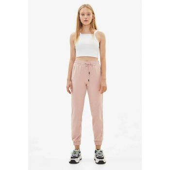 Women's Pink Cotton Jogger Pants 05223478