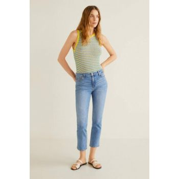 Women's Dull Blue Slim Short Trousers, Grace Jean Pants 53000578