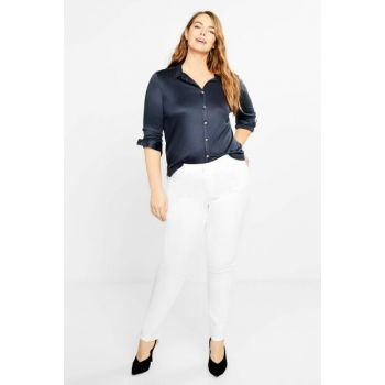 Women's White Slim Fit Jullie Jean Trousers 53135775