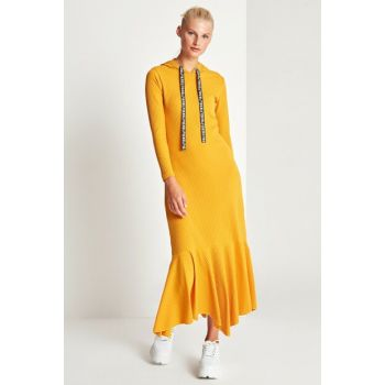 Women's Mustard Hoodie Dress 50170