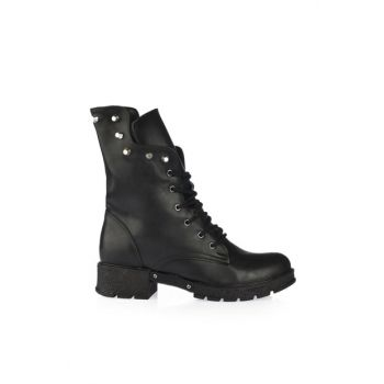 Women's Black Boots & Bootie 01BOY164520A100