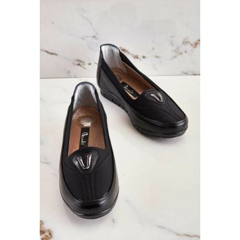 Black Stretch Women Casual Shoes K07670106