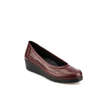 Maroon Women's Wedge Heeled Shoes 92.101014.Z