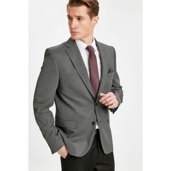Men's Gray Jacket 9SH693Z8