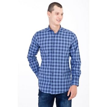 Long Sleeve Plaid Shirt 83289