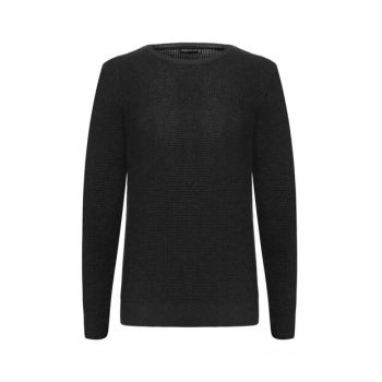 Men's Black Crew Neck Sweater 339572