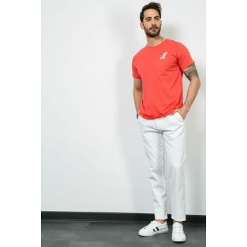 Men's Pocket Detail White Trousers 9YPA815E104 9YPA815E104