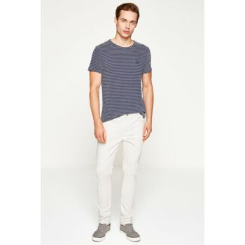 Men's White Trousers 7YAM41176LW