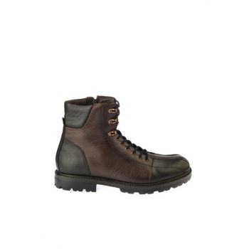 Genuine Leather Brown Men Boots & Bootie 02BOY163180A480