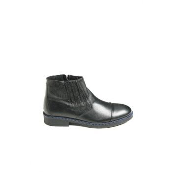 Genuine Leather Black Men Boots & Booties 70910S