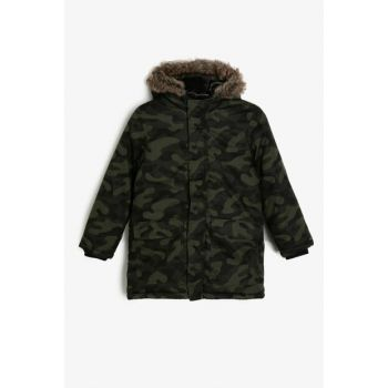 Green Children's Coat 0KKB06109OW