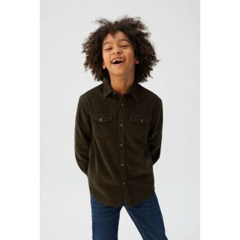Dark Green Boy Shirt 53075742