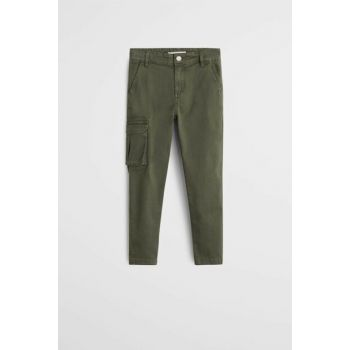 Khaki Color Boys Trousers With Pockets 53005015