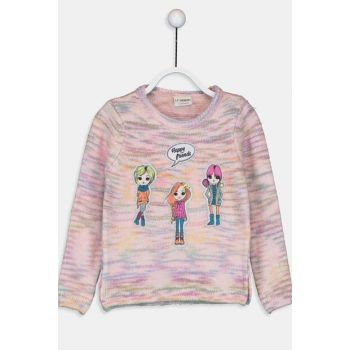 Girl's Pink Pullover Sweater 9W7970Z4