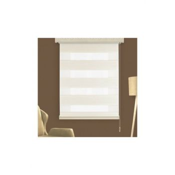 Pleated Cream 240x260 Zebra Curtain 1267-115181 LCRCNCPT00008327