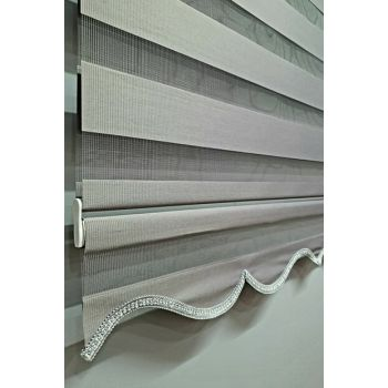 Brillant Roller Blinds Zebra Curtain Gray MZ510 BBB-MZ510