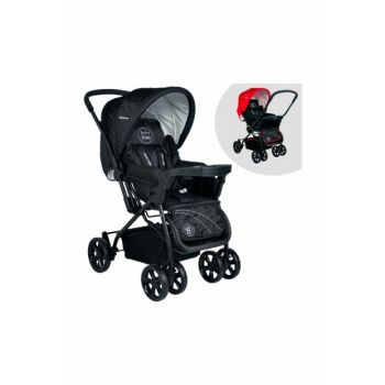 BABY HOME BH-755 TITANIC DOUBLE TRAY BABY CAR BLACK - COFFEE 007-023-001